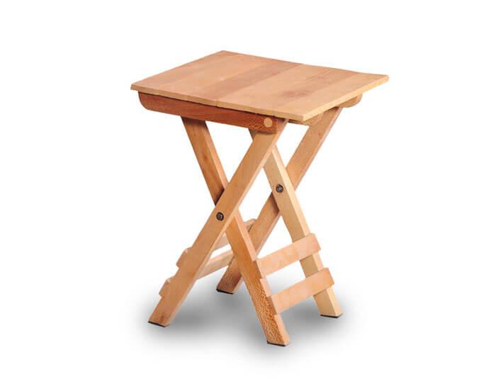 صندلی مسافرتی تاشو چوبی گنجینه