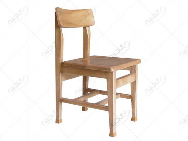 خرید صندلی مطالعه چوبی پشت قوس دار
