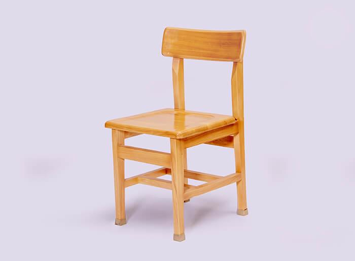 صندلی مطالعه چوبی قوس دار راش