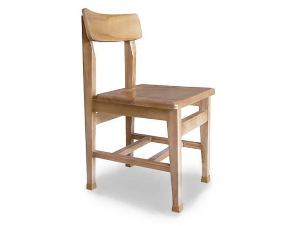 صندلی مطالعه چوبی پشت قوس دار گنجینه