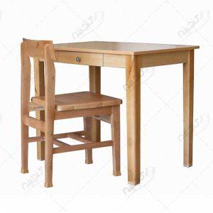 میز تحریر و میز مطالعه چوبی کشو دار گنجینه