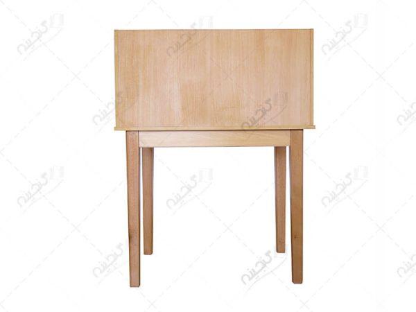 میز مطالعه و تحریر ساده چوبی رنگ راش