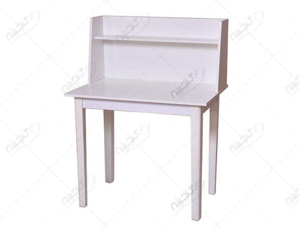 میز مطالعه و تحریر ساده چوبی سفید