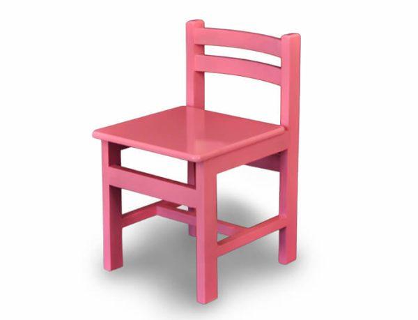 صندلی چوبی کودک رنگ صورتی