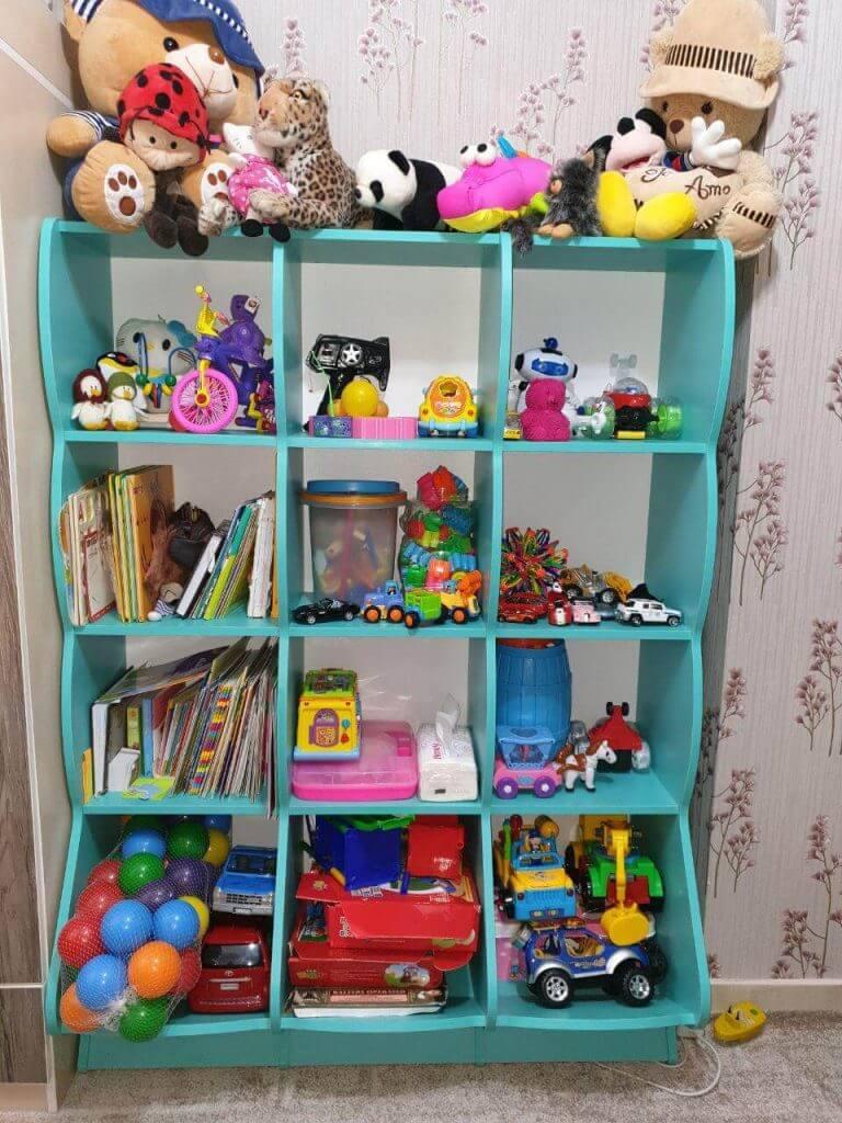 قفسه اسباب بازی چوبی گنجینه