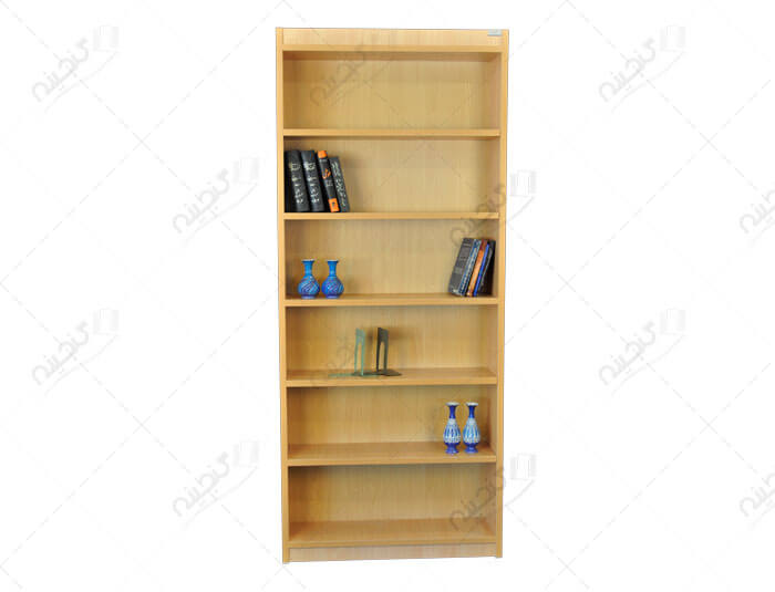قفسه کتاب چوبی یکطرفه بلند کتابخانه خانگی
