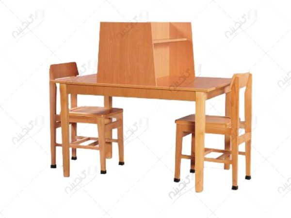میز تحریر و میز مطالعه دو نفره چوبی
