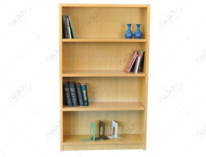 قفسه کتاب چوبی متوسط یکطرفه بلند کتابخانه خانگی