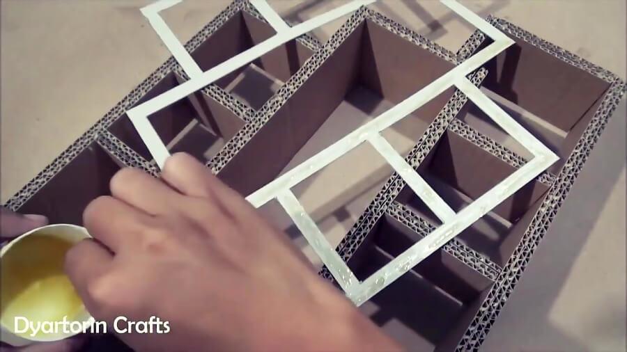 ساختن شلف و قفسه با مقوا و کارتن