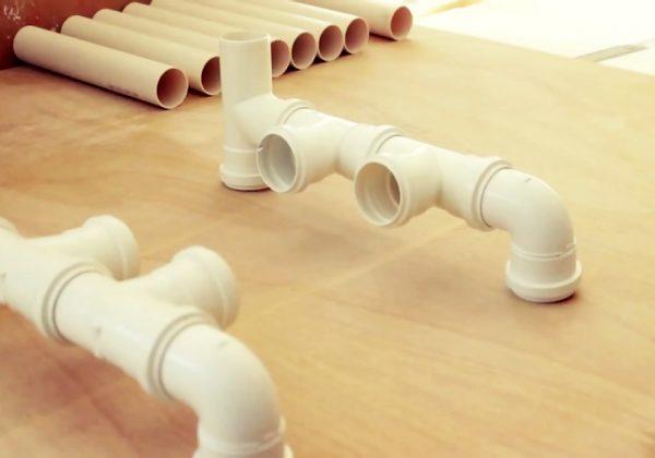 ساخت میز و صندلی با لوله پی وی سی