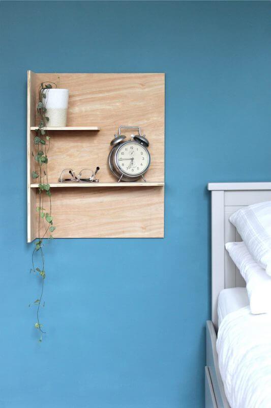 ایده های سخت شلف دیواری ارزان و جدید چوبی
