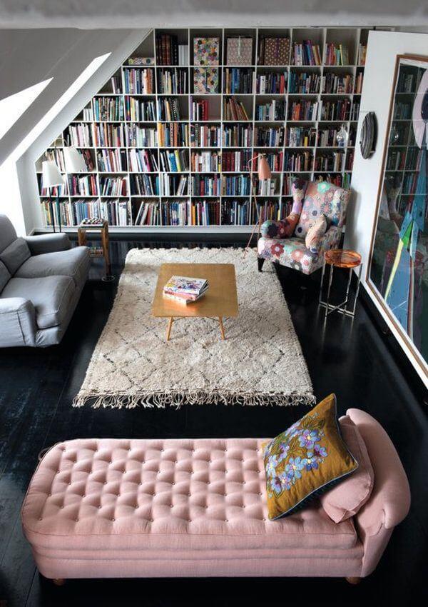 قفسه کتاب دیواری برای اتاق مطالعه