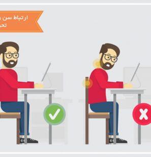 ارتباط سن و قد افراد با ارتفاع میز تحریر و صندلی مطالعه