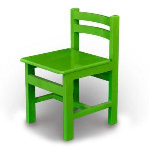 صندلی چوبی کودک رنگ سبز