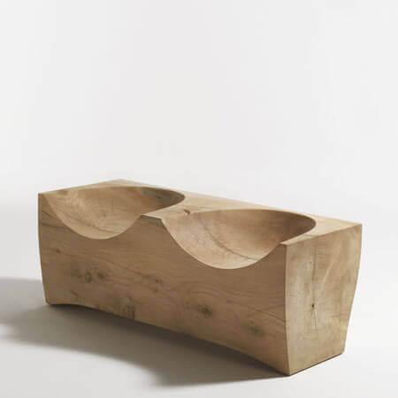 صندلی چوبی دو نفره برای دکوراسیون داخلی منزل با صندلی چوبی