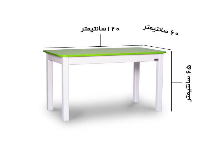 ابعاد میز تحریر کودک چوبی