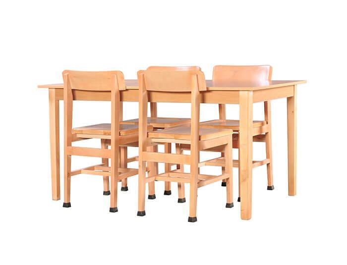 میز مطالعه 4 نفره چوبی گنجینه