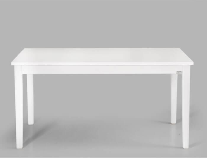 میز ناهار خوری شش نفره سفید