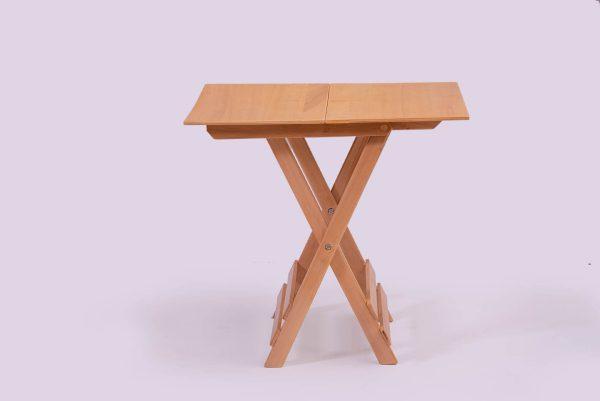 میز ناهار خوری چوبی تاشو مسافرتی