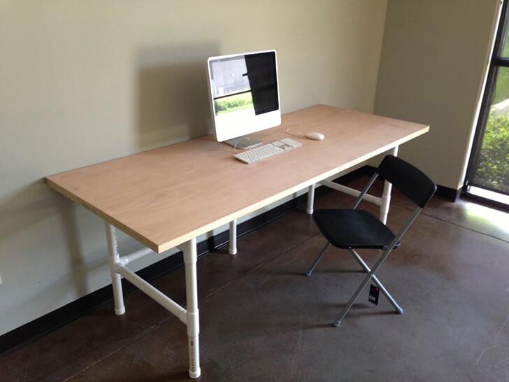 آموزش ساخت میز تحریر با لوله آب