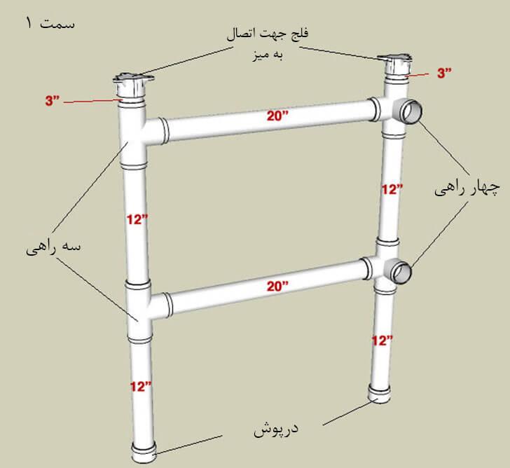 آموزش ساخت میز تحریر با استفاده از لوله پلی اتیلن