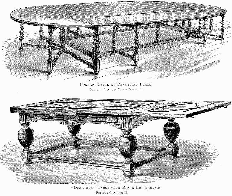 تاریخچه میز - میز تاشو متعلق به قرن 17