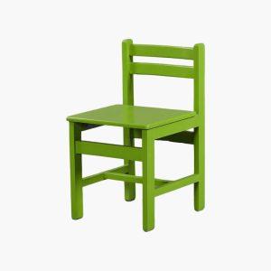 صندلی چوبی کودک با رنگ سبز