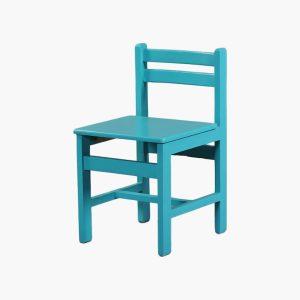 صندلی کودک چوبی با رنگ فانتزی