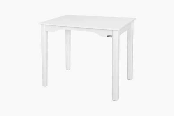 میز تحریر چوبی بدون کشو با رنگ سفید