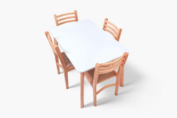 ست میز و صندلی ناهار خوری چهار نفره گنجینه