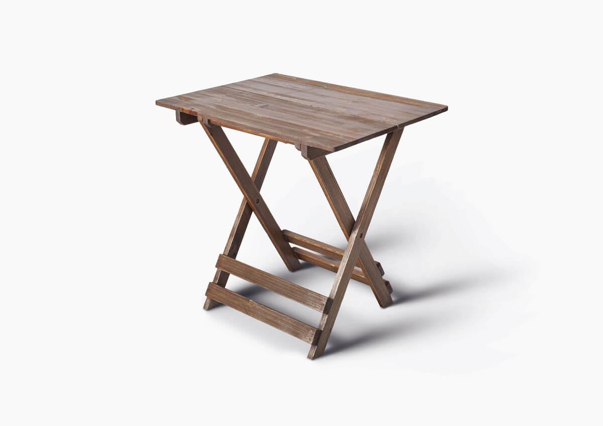میز ناهار خوری چهار نفره تاشو چوبی