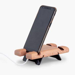پایه نگهدارنده چوبی موبایل